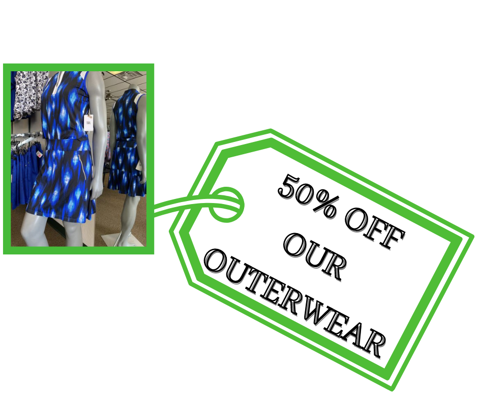 Golf Apparel 10% off one item 20% off two items 25% off three or more (3)